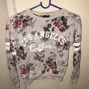 Flower Sweater : Los Angeles California